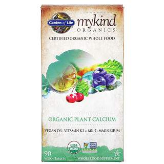 Garden of Life, My Kind Organics, Organic Plant Calcium, 90 Vegan Tablets