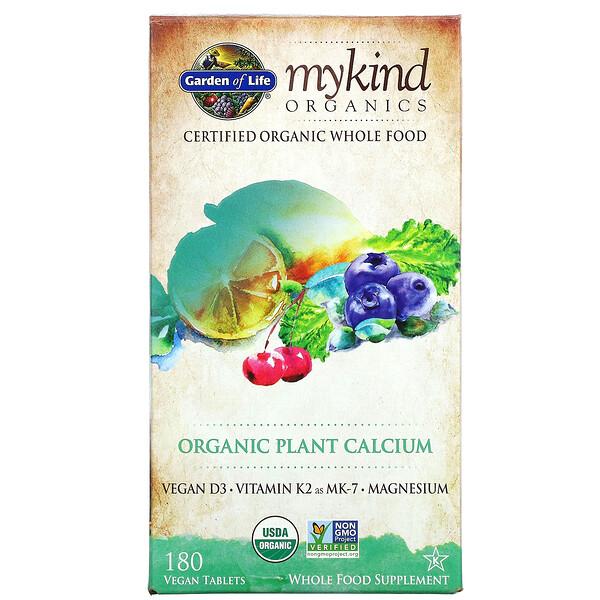 KIND Organics, Calcio Vegetal Orgánico, 180 Tabletas Veganas