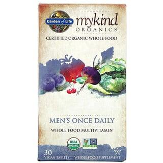 Garden of Life, MyKind Organics, Men's Once Daily Multivitamin, 30 Vegan Tablets