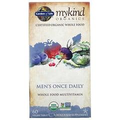 Garden of Life, MyKind Organics,男士每日一片補充劑,60 片素食片