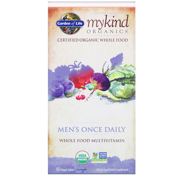 MyKind Organics, Men's Once Daily, 60 Vegan Tablets