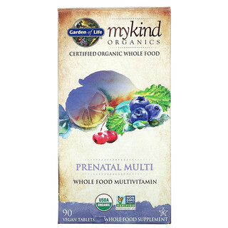 Garden of Life, MyKind Organics, Prenatal Multi, 90 Vegan Tablets