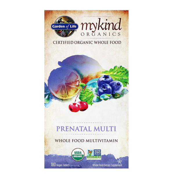 MyKind Organics, Prenatal Multi, 180 Vegan Tablets