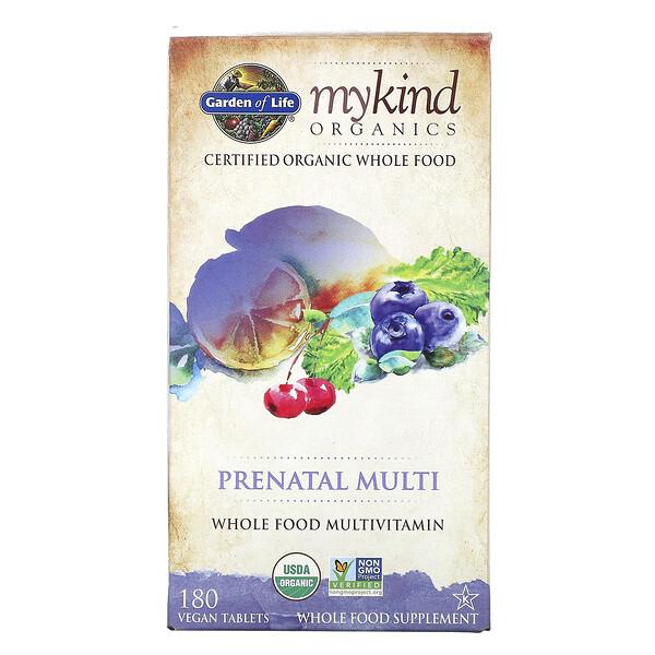 MyKind Organics 孕婦專用複合維生素純素食營養片,180 片