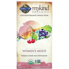 Garden of Life, MyKind Organics,女性多功能補充劑,60 片素食片