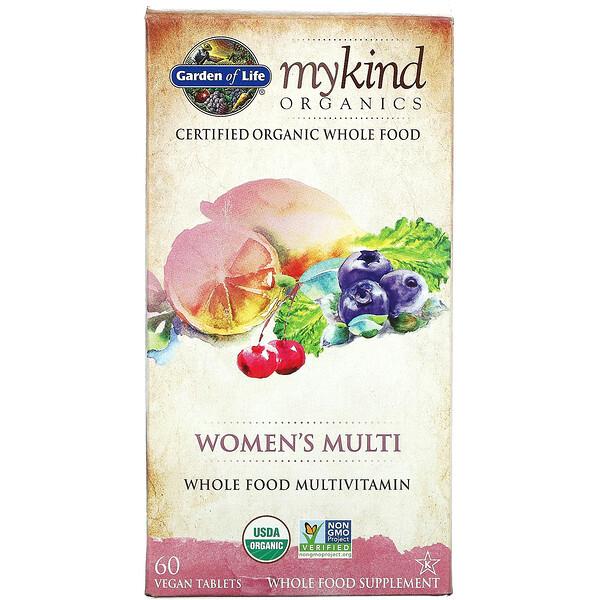 MyKind Organics, Women's Multi, 60 Vegan Tablets