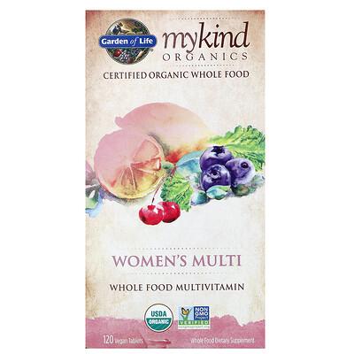 Купить KIND Organics, Мультивитамины для женщин, 120 веганских таблеток