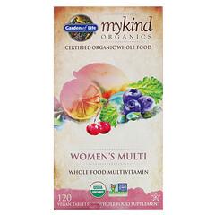 Garden of Life, KIND Organics,Women's Multi,120片淨素片劑