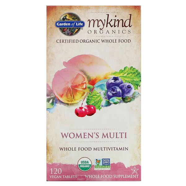 Garden of Life, KIND Organics, Multi para Mujeres, 120 Tabletas Veganas