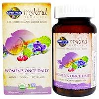 KIND Organics, Women's Once Daily, 60 веганских таблеток - фото