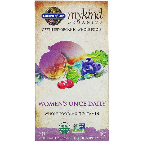 Garden of Life, MyKind Organics, Women's Once Daily, 60 Vegan Tablets