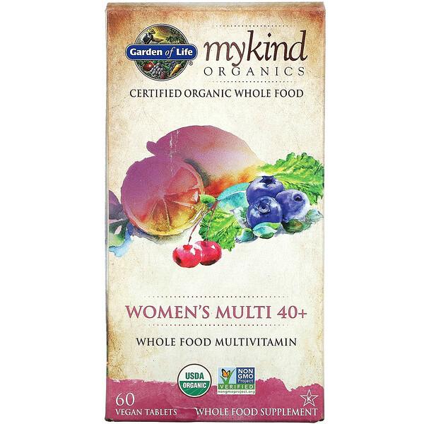 MyKind Organics,40 岁以上女性多营养素片,60 片全素片