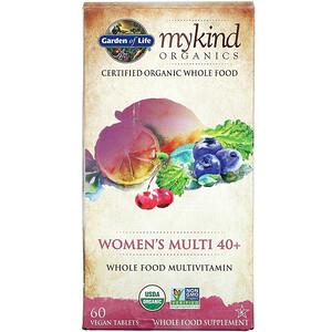 Garden of Life, MyKind Organics, Women's Multi 40+, 60 Vegan Tablets'