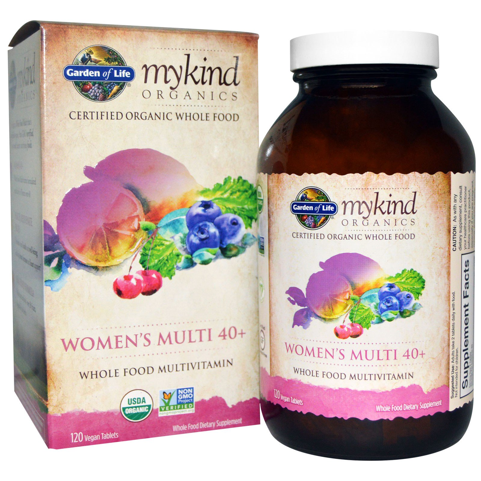 garden of life organic womens multi 40 whole food multivitamin 120 vegan tablets - Garden Of Life Multivitamin