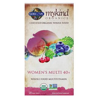 Garden of Life, Мультивитамины для женщин в возрасте старше 40 лет, цельнопищевой мультивитамин, 120 веганских таблеток