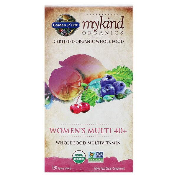 Women's Multi 40+, Whole Food Multivitamin, 120 Vegan Tablets