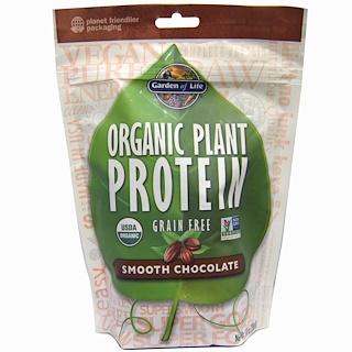 Garden of Life, 유기농 식물 단백질, 그레인 프리, 부드러운 초콜릿, 10 oz (280 g)