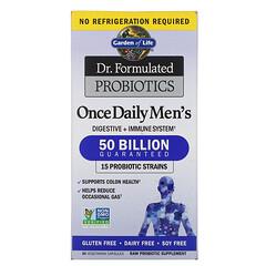 Garden of Life, Dr. Formulated 益生菌,每日一次,男性,500 億,30 粒素食膠囊