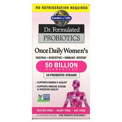 Garden of Life, Dr. Formulated 益生菌,女性每日一次,500 億,30 粒素食膠囊