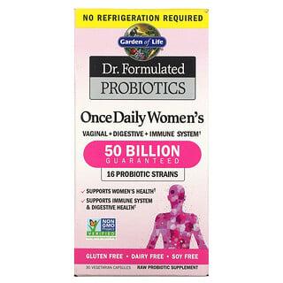 Garden of Life, Dr. Formulated Probiotics, пробиотики, одна таблетка в день для женщин, 30вегетарианских капсул