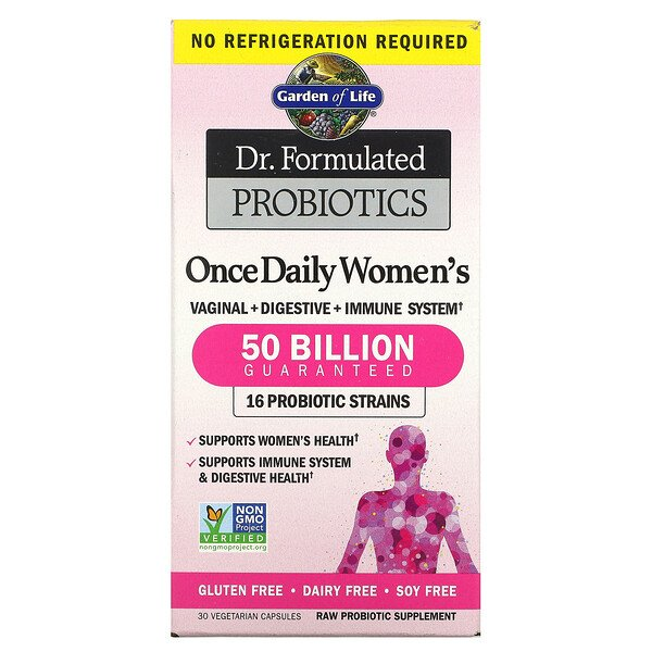 Dr. Formulated Probiotics, Once Daily Women's, 50 Billion, 30 Vegetarian Capsules