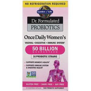 Garden of Life, Dr. Formulated Probiotics, 毎日1度女性向け, 30錠 菜食主義者対応カプセル