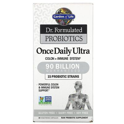 Купить Garden of Life Dr. Formulated Probiotics, Once Daily Ultra, 90 Billion, 30 Vegetarian Capsules
