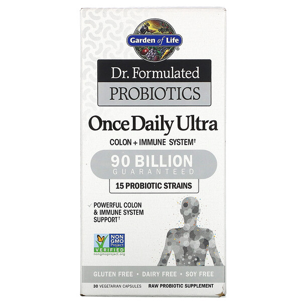 Dr. Formulated Probiotics, Once Daily Ultra, 90 Billion, 30 Vegetarian Capsules