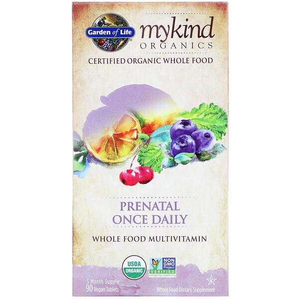 MyKind Organics, Prenatal Once Daily, 90 Vegan Tablets