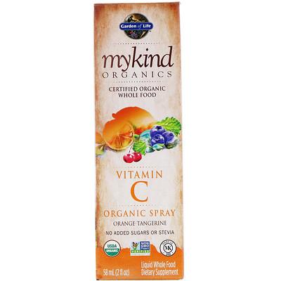 Купить MyKind Organics, Vitamin C Organic Spray, Orange-Tangerine, 2 fl oz (58 ml)