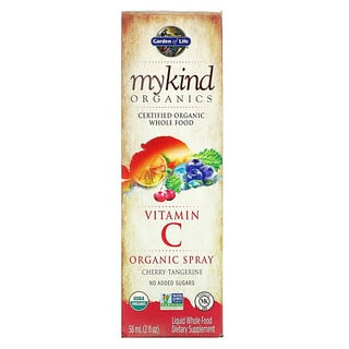 Garden of Life, MyKind Organics, Vitamin C Organic Spray, Cherry-Tangerine, 2 fl oz (58 ml)