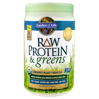Garden of Life, Raw Protein & Greens, Organic Plant Formula, Lightly Sweet , 23.0 oz (651 g)