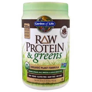 Garden of Life, Raw Protein & Greens, Real Raw Chocolate Cacao, 1.4 lbs (611 g)