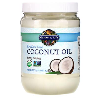 Raw Extra Virgin Coconut Oil, 29 fl oz (858 ml) недорого
