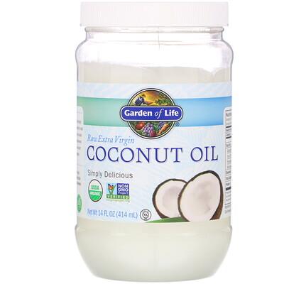 Raw Extra Virgin Coconut Oil, 14 fl oz (414 ml) недорого