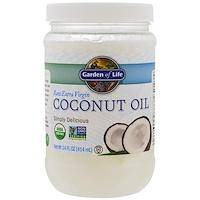 Цельное кокосовое масло первого отжима, 14 жидких унций (414 мл) - фото