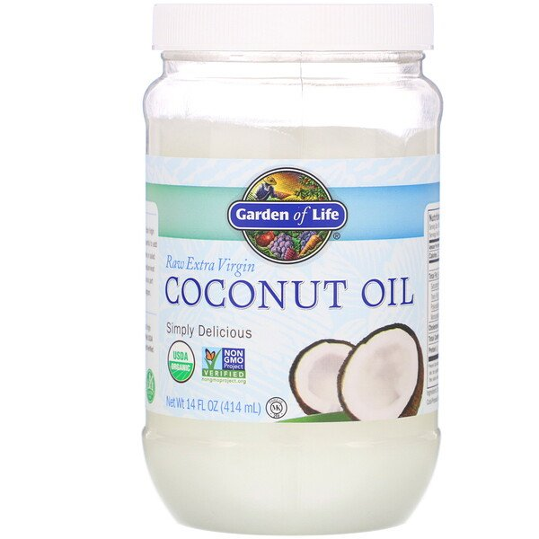 Garden of Life, Raw Extra Virgin Coconut Oil, 14 fl oz (414 ml)