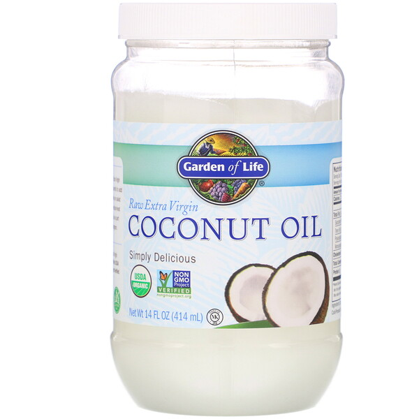 Raw Extra Virgin Coconut Oil, 14 fl oz (414 ml)
