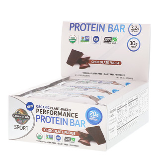 Garden of Life, Sport, Organic Plant-Based Performance Protein Bar, Chocolate Fudge, 12 Bars, 2.7 oz (75 g) Each