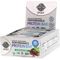 Спорт, органический растительный белковый батончик для улучшения показателей, шоколадная мята, 12 батончиков, по 2,5 унции (70 г) каждый - фото