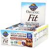 Garden of Life, Organic Fit,高蛋白塑身棒,花生醬巧克力,12 條,每條 1.9 盎司 (55 克)
