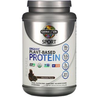 Garden of Life, Sport, Organic Plant-Based Protein, Refuel, Chocolate Flavor, 29.6 oz (840 g)