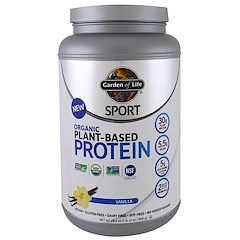 Garden of Life, Protein النباتي العضوي من Sport، لإعادة الشحن بالطاقة، بالفانيليا، 28.4 أونصة (806 جم)