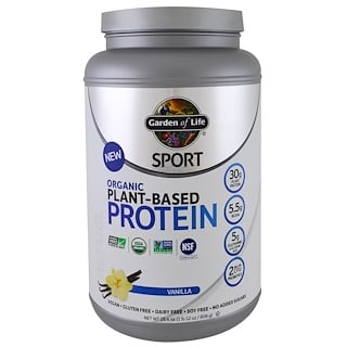 Garden of Life, Sport, Organic Plant-Based Protein, Refuel, Vanilla, 1.7 lbs (806 g)