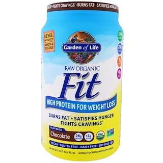 Garden of Life, Raw Organic Fit, High Protein For Weight Loss, Chocolate, 2 lbs (922 g)
