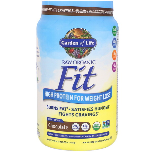 RAW Organic Fit, High Protein for Weight Loss, Chocolate, 32.09 oz (910 g)