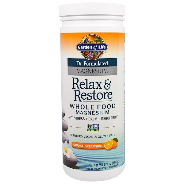 Garden of Life, Dr. Formulated Magnesium, Relax & Store, Orange Dreamsicle, 6.9 oz (196 g) (Discontinued Item)