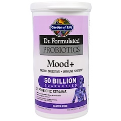 Garden of Life, Dr. Formulated Probiotics, Mood+, 60 Veggie Caps