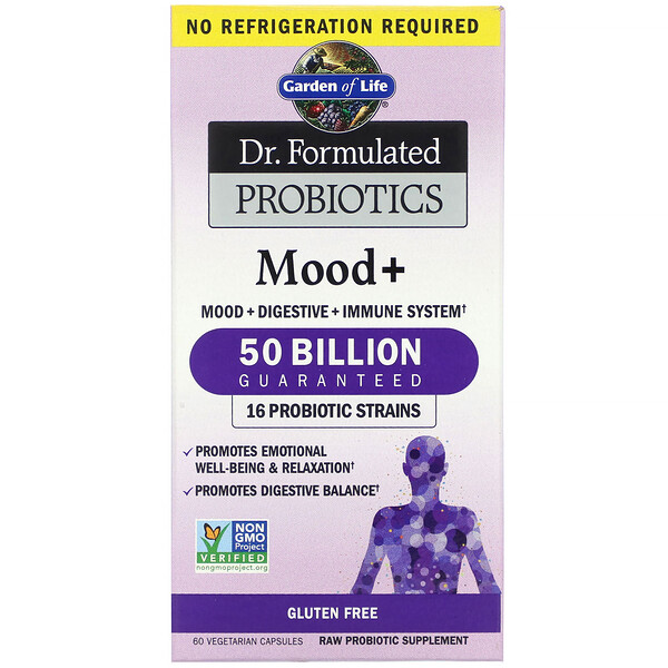 Dr. Formulated Probiotics, Mood+, 60 Vegetarian Capsules