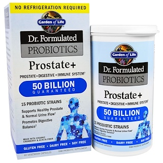 Garden of Life, Dr. Formulated Probiotics, Prostate+, 60 Veggie Caps